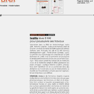 Ixaltis raises 8 millions euros, May 2016